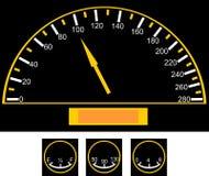 Speedometer på bilen Royaltyfri Foto