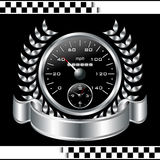 Speedometer racing shield Royalty Free Stock Photography