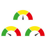 Speedometer or rating meter signs infographic gauge element. Vector illustration Stock Images