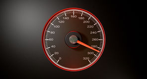 Speedometer Red Fast Speed Stock Photography