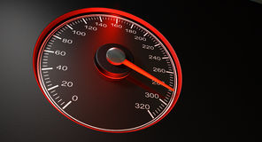 Speedometer Red Fast Speed Royalty Free Stock Photo