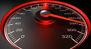 Speedometer Red Fast Speed Royalty Free Stock Photography