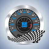 Speedometer with rev counter Royalty Free Stock Photography