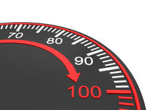 Speedometer scale Stock Photography