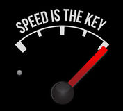 Speedometer scoring speed is the key Royalty Free Stock Image