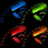 Speedometer Set Royalty Free Stock Image