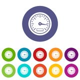 Speedometer set icons Royalty Free Stock Image
