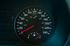 Speedometer Showing A Full Fuel Tank Royalty Free Stock Photo