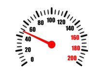 Speedometer shows average speed Royalty Free Stock Photos