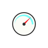 Speedometer solid icon, navigation and Tachometer Royalty Free Stock Photography