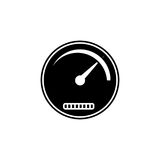 Speedometer solid icon, navigation and Tachometer Royalty Free Stock Images