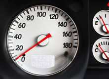 Speedometer of Sport Car. White scale speedometer of sport car Stock Photography