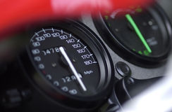 Speedometer and tachometer Royalty Free Stock Photo