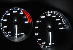 Speedometer and tachometer Stock Photography