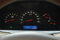 Speedometer and a tachometer Royalty Free Stock Photos