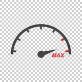 Speedometer, tachometer flat icon Stock Photography