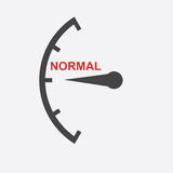 Speedometer, tachometer, fuel low level icon. Flat vector illust Royalty Free Stock Photography