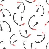 Speedometer, tachometer, fuel low level meter seamless pattern   Stock Image