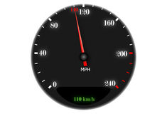 Speedometer to 110 km / h. Speed royalty free illustration