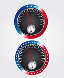 Speedometer usa Stock Photos