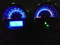 Speedometer van de fietsmeter Stock Foto's