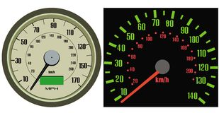 Speedometer vector Royalty Free Stock Images