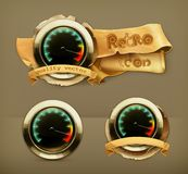 Speedometer vector icons Royalty Free Stock Photography