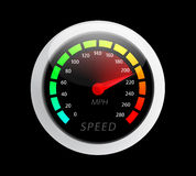 Speedometer Vector illustration. Beautiful realistic vector speedometer ilustration Royalty Free Stock Photography