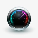 Speedometer. Vector illustration of speedometer. Elements are layered separately in vector file Royalty Free Stock Photography