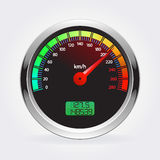 Speedometer. Vector illustration  on white background Stock Photos