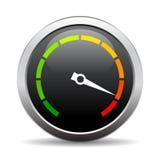 Speedometer vector round icon Stock Photography