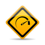 Speedometer vector sign Royalty Free Stock Photography
