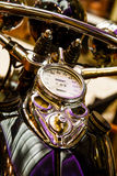 Speedometer on Vintage Motorcycle Stock Photography
