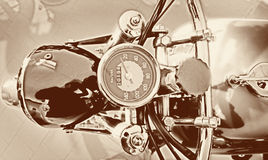Speedometer of a vintage motorcycle Stock Photos