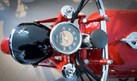 Speedometer of a vintage motorcycle Stock Image