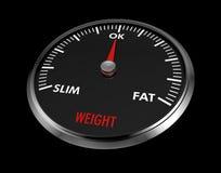 Speedometer - weight Stock Photo