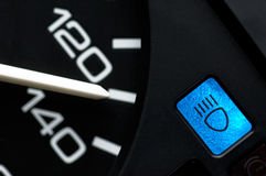 Speedometer With Beam Light Control Stock Images