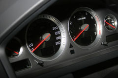 Speedometerr und Tachometer Lizenzfreies Stockfoto