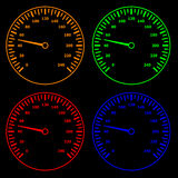Speedometers. Illustration for the web Royalty Free Stock Photos