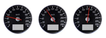 Speedometers Royalty Free Stock Image