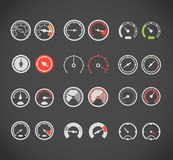 Speedometers color  collection Royalty Free Stock Photos