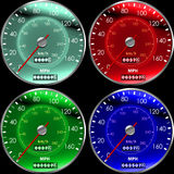 Speedometers or dashboard stock illustration