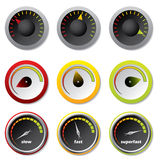 Speedometers For Downloads Royalty Free Stock Photos