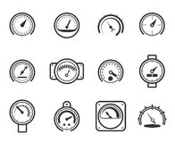 Speedometers, manometers, tachometers and Royalty Free Stock Image
