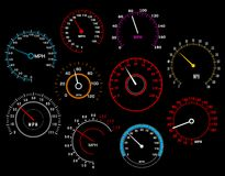 Speedometers set Stock Image
