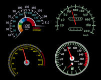 Speedometers set Stock Photos