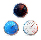 Speedometers, vector set Royalty Free Stock Photos