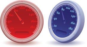 speedometervektor Arkivfoton