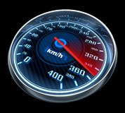 Speedometr car on black background Stock Photography