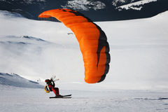 Speedrider. Man speedriding on a mountain plateau Stock Photography